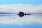 Fog On Water Framed Prints - As the Fog Clears Framed Print by Cathy  Beharriell