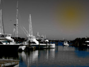 Boating Digital Art - As The Harbor  Wharfs  by Steven  Digman