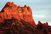 Red Rocks Framed Prints - As the Sun Sets in Sedona Framed Print by John Rizzuto