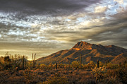 Southwest Landscape Metal Prints - As the Sun Sets  Metal Print by Saija  Lehtonen