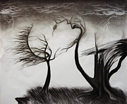Thunder Drawings - As the Trees Cry by Kyle Gray