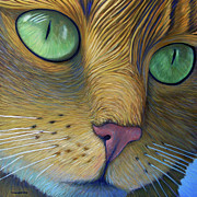 Cats Painting Posters - As Time Goes By Poster by Brian  Commerford