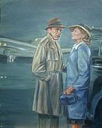 Movies Painting Originals - As Time Goes By by Bryan Bustard
