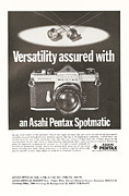 Advertisment Posters - Asahi Pentax Spotmatic Poster by Nomad Art And  Design