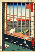 Graphic Arts Framed Prints - Asakusa Rice Field Framed Print by Pg Reproductions