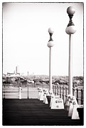 Red In Black Prints - Asbury in the Distance Print by John Rizzuto