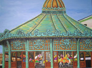 Palace Amusements Framed Prints - Asbury Park Carousel House II Framed Print by Norma Tolliver