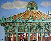 Asbury Paintings - Asbury Park Carousel House by Norma Tolliver