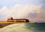 New Jersey Painting Posters - Asbury Park Convention Hall Poster by Ken Ahlering