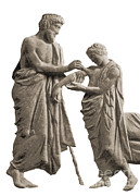 Tending Framed Prints - Ascelpius Tending Ancient Greek Patient Framed Print by Science Source