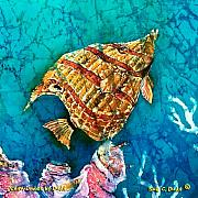 Sealife Tapestries - Textiles Metal Prints - Ascending Metal Print by Sue Duda