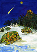 Sea Turtles Mixed Media - Ascension Island by Adam Robertson
