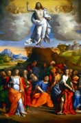 Garofalo Print Paintings - Ascension Of Christ  by Garofalo