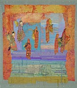 Figures Tapestries - Textiles Originals - Ascension of the Butterfly Women by Roberta Baker