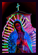 Symbology Prints - Ascension Virgin of Guadalupe Print by Susanne Still