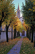 Autumn Foliage Photo Framed Prints - Ascona - Collegio Papio Framed Print by Joana Kruse