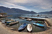 European Restaurant Metal Prints - Ascona - Ticino Metal Print by Joana Kruse