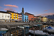 Switzerland Art - Ascona am Abend by Joana Kruse