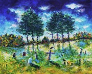 Gothic Crows Prints - Ascot Corners Cemetery Print by Ion vincent DAnu