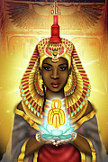 Hathor Digital Art Metal Prints - Aset Isis Metal Print by Emhotep Richards
