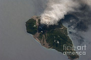 Aerial Photography Photo Framed Prints - Ash And Steam Plume, Soufriere Hills Framed Print by NASA/Science Source