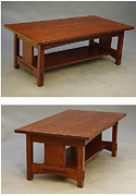 Coffee Table Sculptures - Ash through-tenon coffe table by Dryad Studios