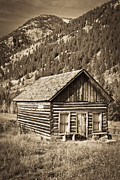 Old House Photo Originals - Ashcroft Ghost Town by Adam Pender