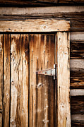 Ashcroft Prints - Ashcroft Ghost Town Door  Print by Adam Pender