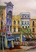 Asheville Painting Framed Prints - Asheville Framed Print by Lizzy Forrester