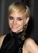 Gold Earrings Acrylic Prints - Ashlee Simpson Wearing Vintage Chanel Acrylic Print by Everett