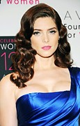 Pink Lipstick Framed Prints - Ashley Greene At Arrivals For Avon Framed Print by Everett