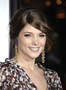 Gold Earrings Acrylic Prints - Ashley Greene At Arrivals For Premiere Acrylic Print by Everett