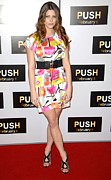 Wide Belt Prints - Ashley Greene At Arrivals For Push Print by Everett