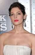 Pink Lipstick Prints - Ashley Greene At Arrivals For Sherlock Print by Everett