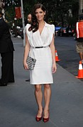 Clutch Bag Framed Prints - Ashley Greene Wearing A Salvatore Framed Print by Everett