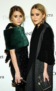 Fur Stole Prints - Ashley Olsen, Mary-kate Olsen Both Print by Everett