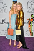 The 2011 Cfda Fashion Awards Prints - Ashley Olsen Wearing The Row, Mary-kate Print by Everett