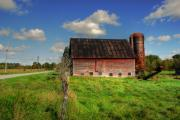 Tin Roof Framed Prints - Ashtabula County Barn Framed Print by Tony  Bazidlo