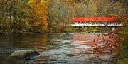 Country Scene Prints - Ashuelot Bridge Print by Jon Holiday