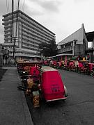 Selective Color Framed Prints - Asia Philippines Taxis 6282018SC Framed Print by Rolf Bertram