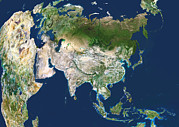Cartography Photos - Asia, Satellite Image by Planetobserver