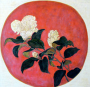 Asian Art Paintings - Asian Floral by Tom Roderick