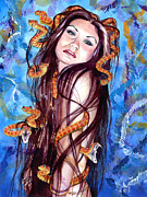 Alluring Paintings - Asian Medusa by Ken Meyer jr