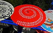 Festivals Photos - Asian Parasols by Elizabeth Hoskinson