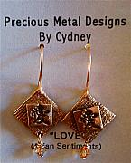 Gold Earrings Art - Asian Sentiments of Love by Cydney Morel-Corton