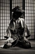 Asian Woman In Kimono Print by Oleksiy Maksymenko