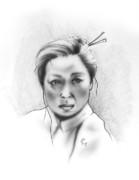 Native American Woman Prints - Asian Woman Print by Robert Martinez
