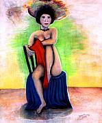 Hat Pastels - Asian Woman with a Hat by Patricia Velasquez de Mera