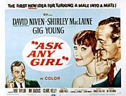 1959 Movies Framed Prints - Ask Any Girl, Gig Young, Shirley Framed Print by Everett