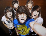 Rock Music Paintings - Asking Alexandria by Al  Molina